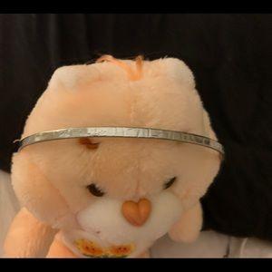 EUC J Crew sliver leather headband